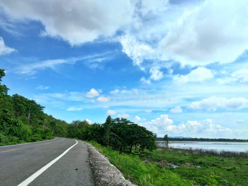 Road to sky stock photo