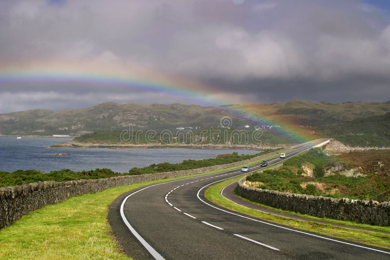 Download Road to Skye stock photo. Image of rainbow, loch, water - 1271104