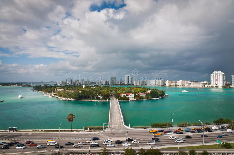 Download Road To Star Island In Miami Stock Image - Image: 83711493