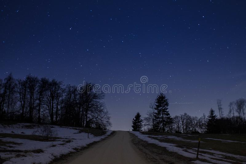 Road to the stars royalty free stock images
