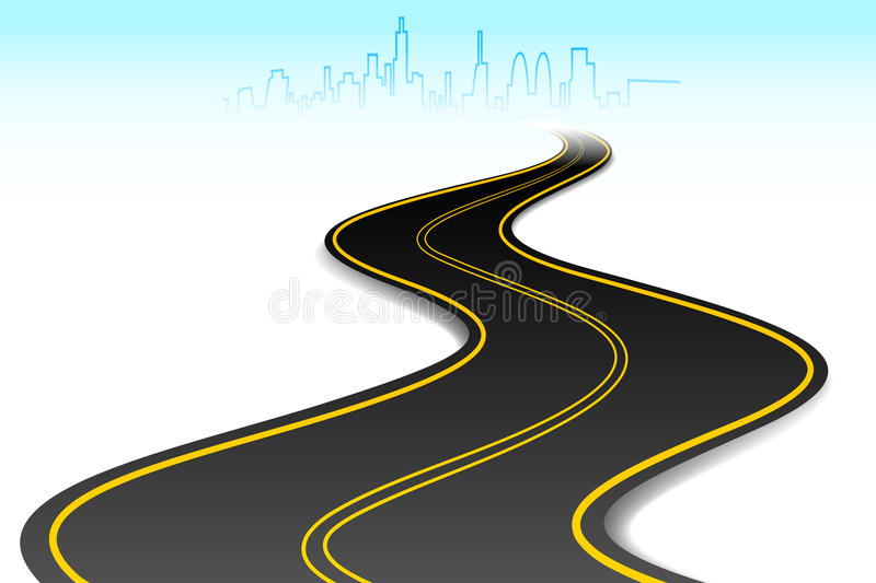 Road to Success vector illustration