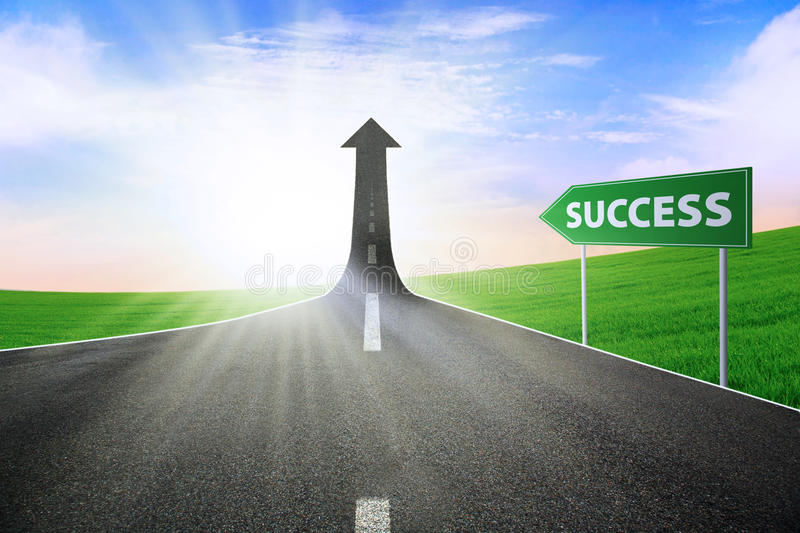 Download The road to success stock illustration. Image of achievement - 25805742