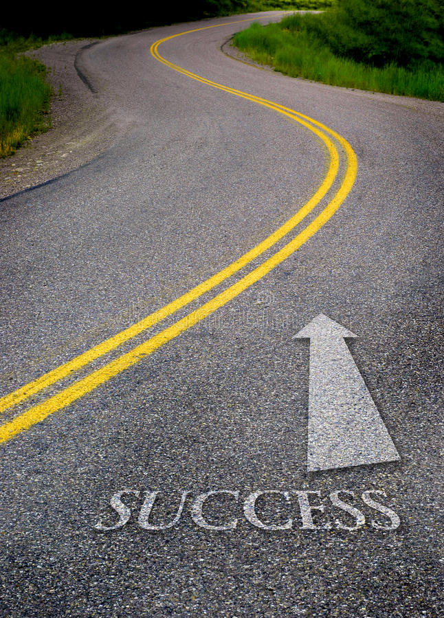 Download Road to Success stock photo. Image of follow, countryside - 26598014