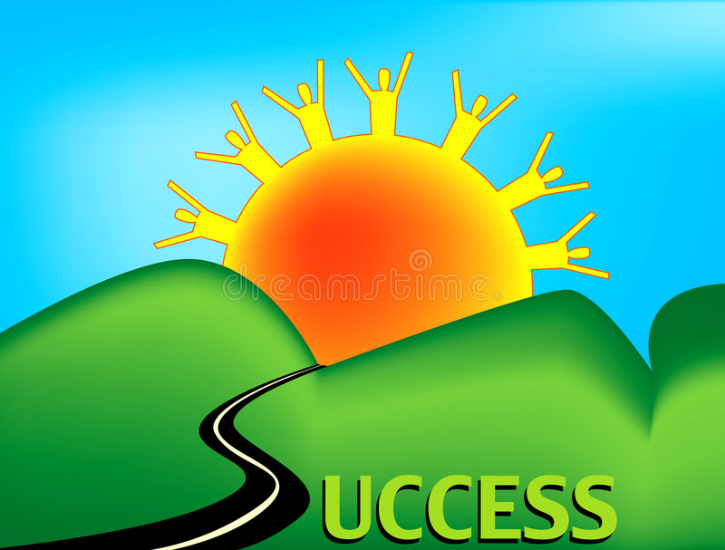 Download Road to Success stock illustration. Image of road, people - 4262636