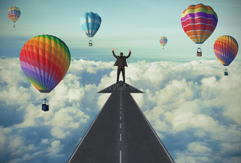 Download The road to success stock photo. Image of cloudy, straight - 32439746