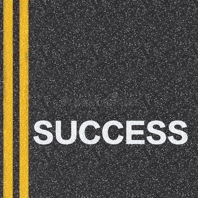 Road to success concept royalty free illustration