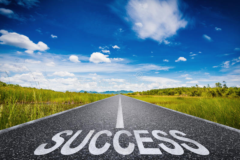 Road to success concept royalty free stock images