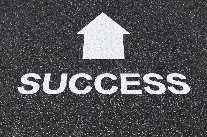Road to success concept stock photography