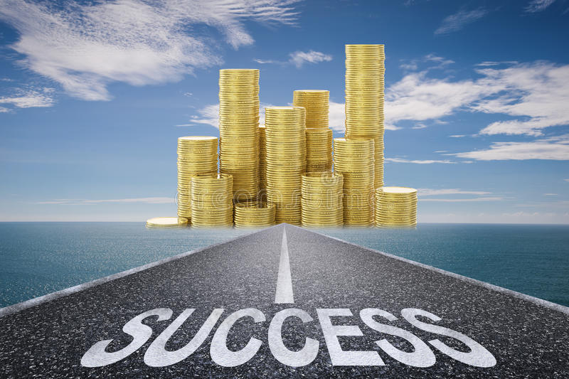 Road to success concept royalty free stock photo