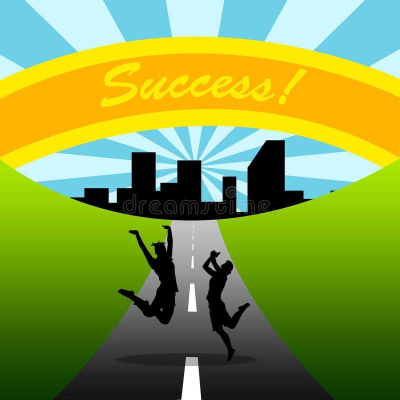 Download Road To Success, Couple, Teamwork Royalty Free Stock Photography - Image: 20010177