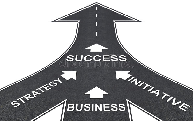 Road to success. royalty free stock image