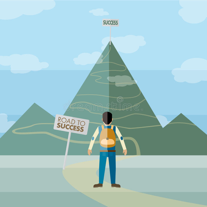 Road to success stock illustration