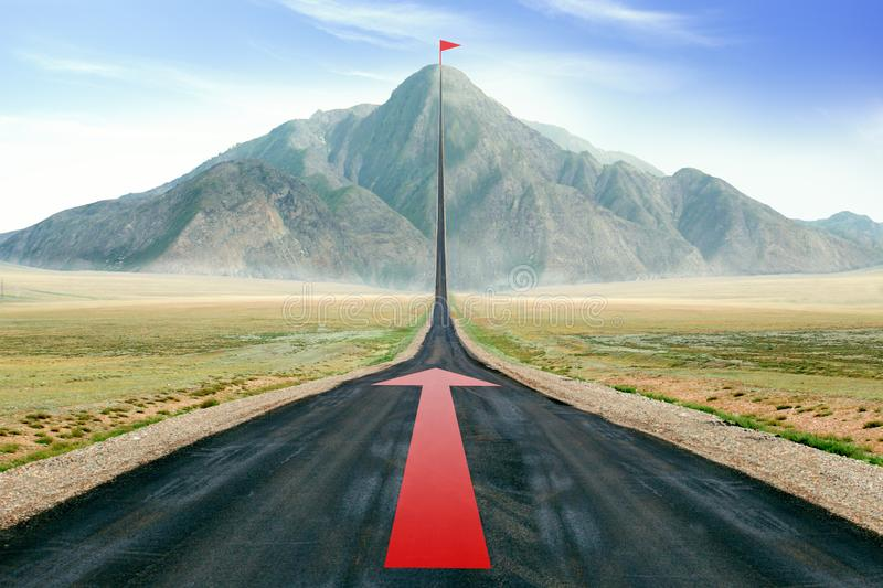 Road To Success, Victory, Goal, Freedom. Concept great job,startup business stock photos