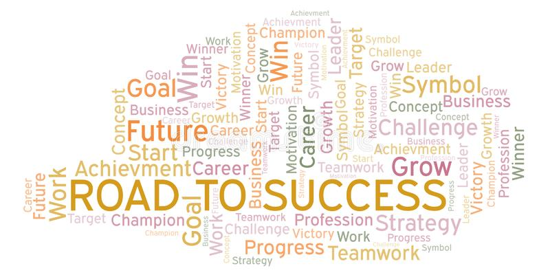 Road To Success word cloud. vector illustration