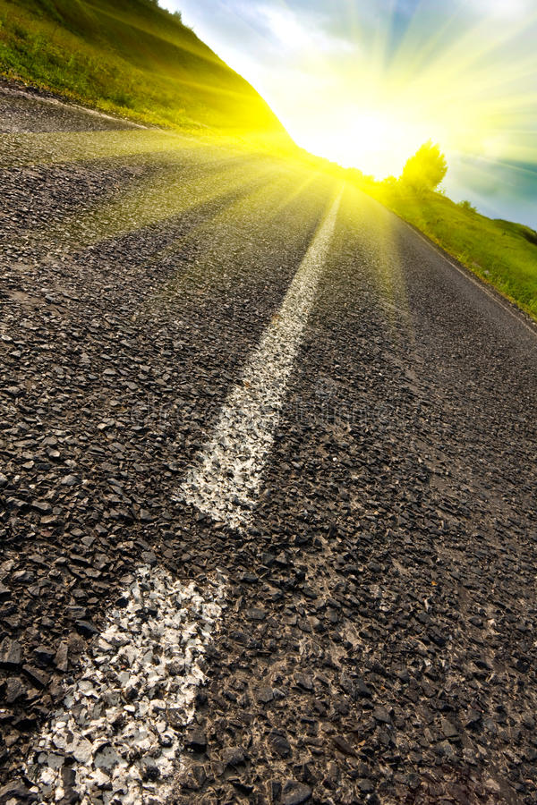 Download Road to sun stock image. Image of environment, auto, freeway - 14348861