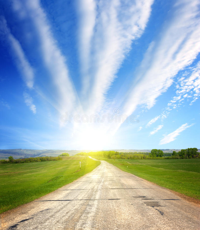 Download Road To Sun Royalty Free Stock Photos - Image: 21995758