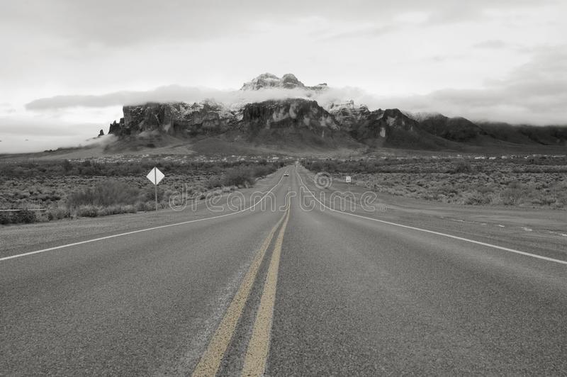 The Road To The Superstitons stock photography