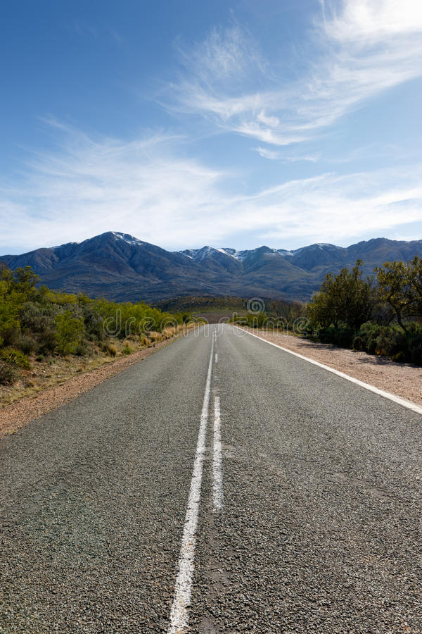 The Road to The Swartberg Nature Reserve stock photography