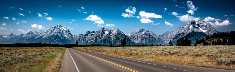 Road to the Tetons, Teton National Park, Wyoming stock photography