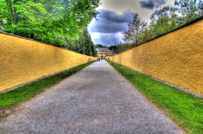 Road to a tourist attraction in salzburg, austria stock photos