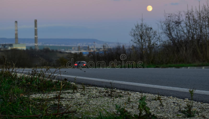 On the road to Varna stock image