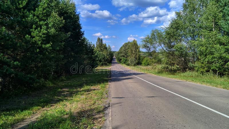 Road to the village. Road russia to village royalty free stock photo