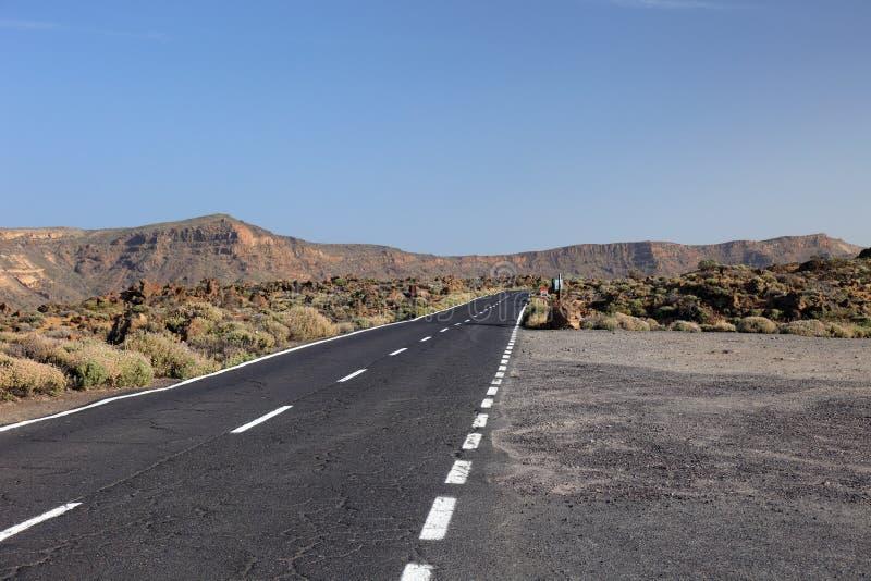 Road to volcano El Teide. royalty free stock photo