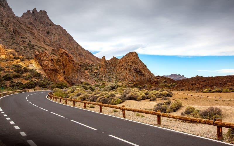 Road to volcano Teide royalty free stock photos