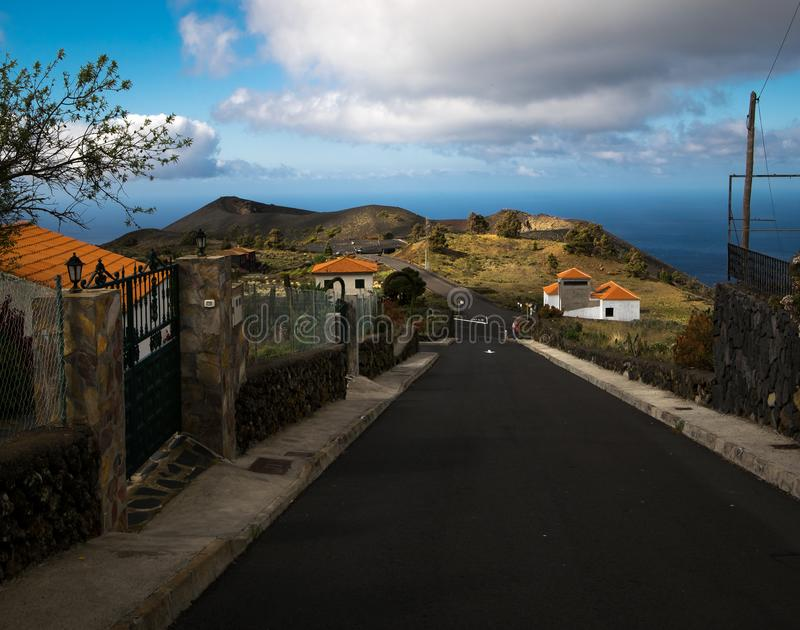 Road to the volcanoes. Canary Islands. royalty free stock images