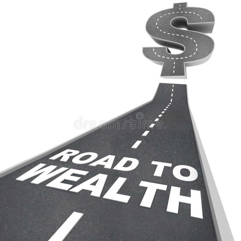 Download Road To Wealth - Words On Street Stock Illustration - Illustration of financial, economy: 16947872