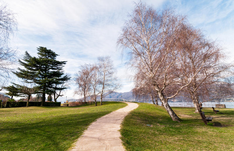 The road towards the lake Maggiore royalty free stock photos