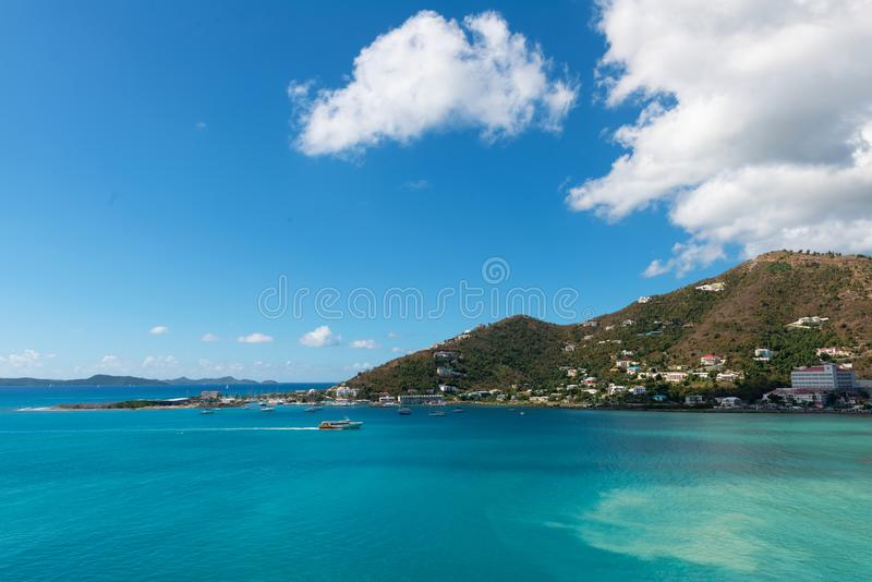 Road Town, Tortola. Road Town, Baughers Bay, Tortola, British Virgin Islands stock photography