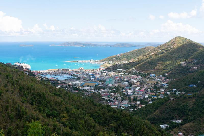 Road Town, Tortola. Road Town, Baughers Bay, Tortola, British Virgin Islands royalty free stock photos