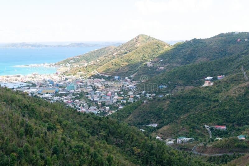 Road Town, Tortola. Road Town, Baughers Bay, Tortola, British Virgin Islands stock photos