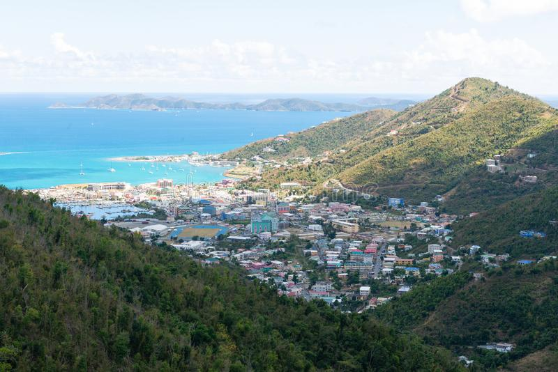 Road Town, Tortola. Road Town, Baughers Bay, Tortola, British Virgin Islands royalty free stock photography