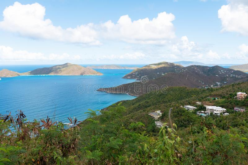 Road Town, Tortola. Road Town, Baughers Bay, Tortola, British Virgin Islands royalty free stock photo