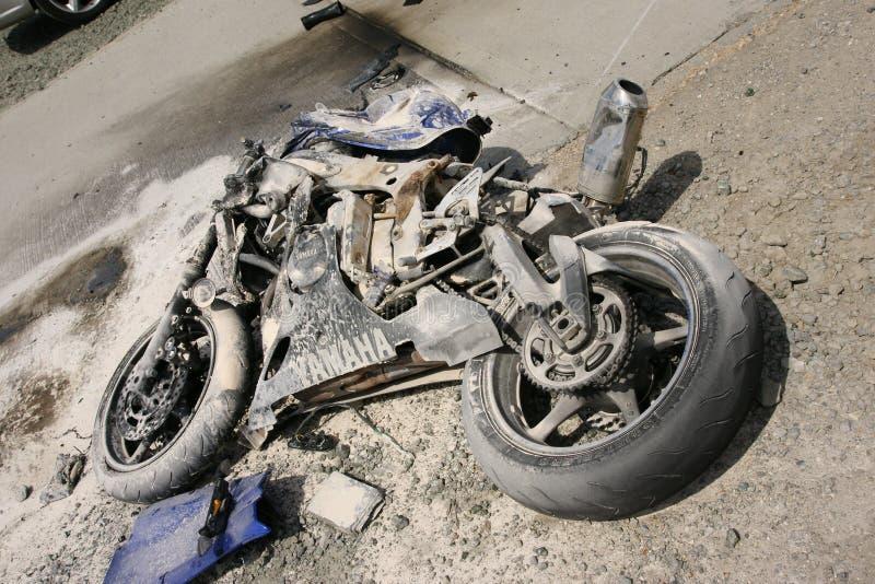 Road traffic accident, motorbike crash stock images
