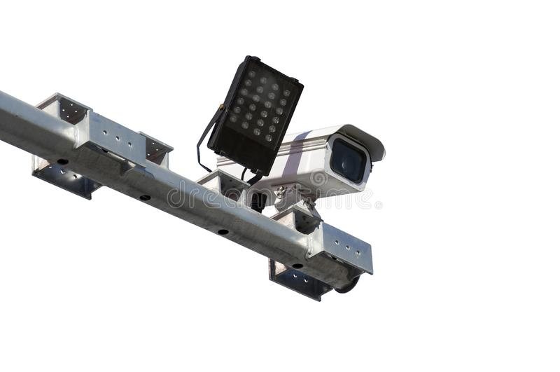Road traffic surveillance camera royalty free stock image