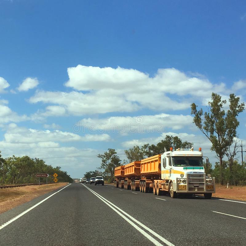 Road Train - Darwin, Australia stock image