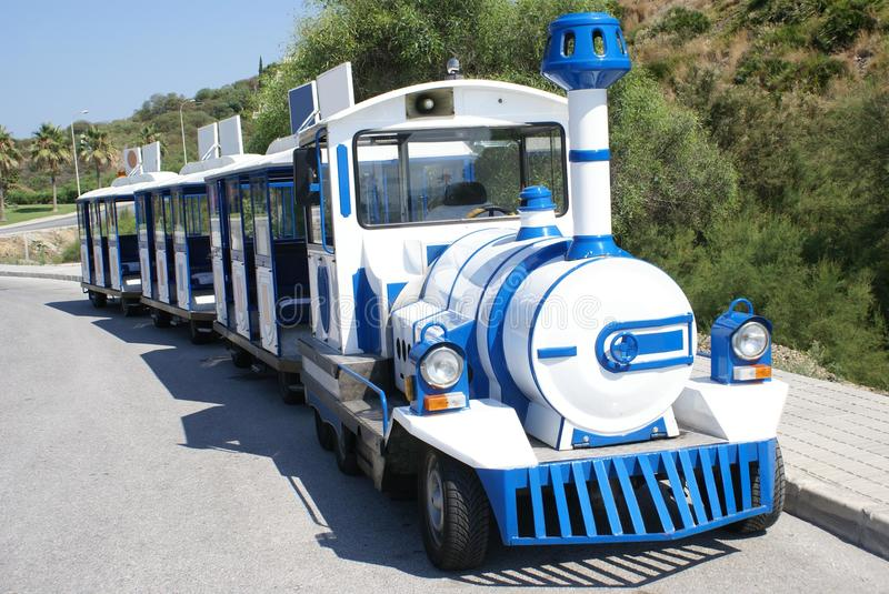Road train. Or an urban public vehicle royalty free stock image
