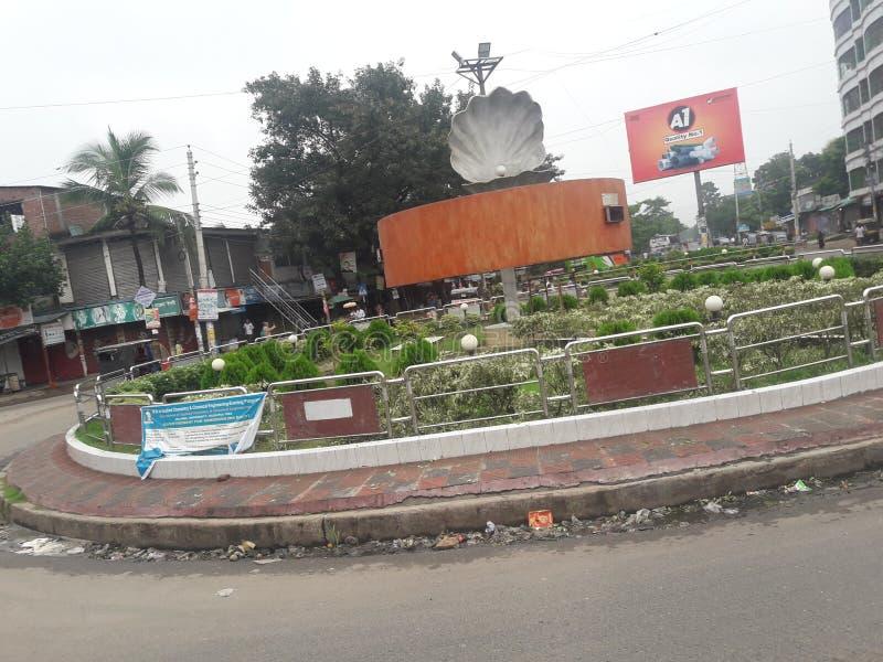 Road and transportation photo with greeny garden. Araplur Jhenaidah, Bangladesh stock photos
