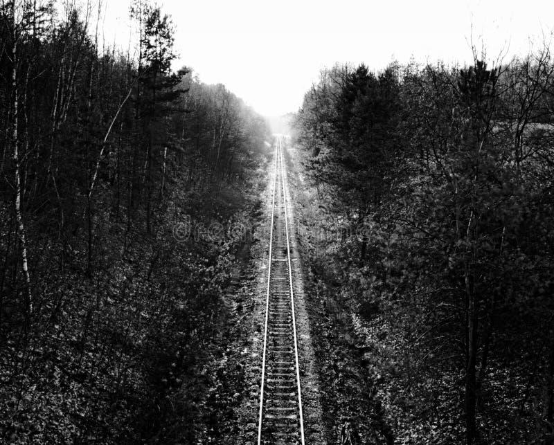 The Road Less Traveled - Tracks stock image