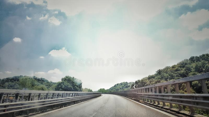 ON THE ROAD royalty free stock photo