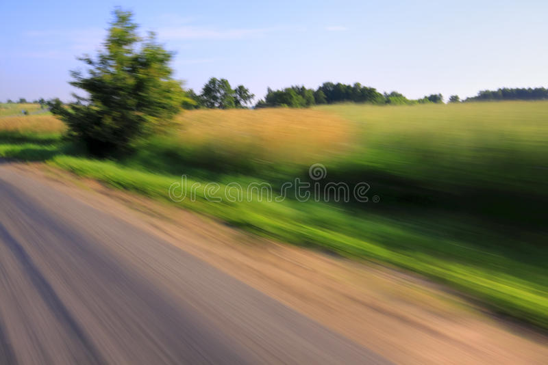 Download Road And Tree With Motion Blur Stock Image - Image: 15826061