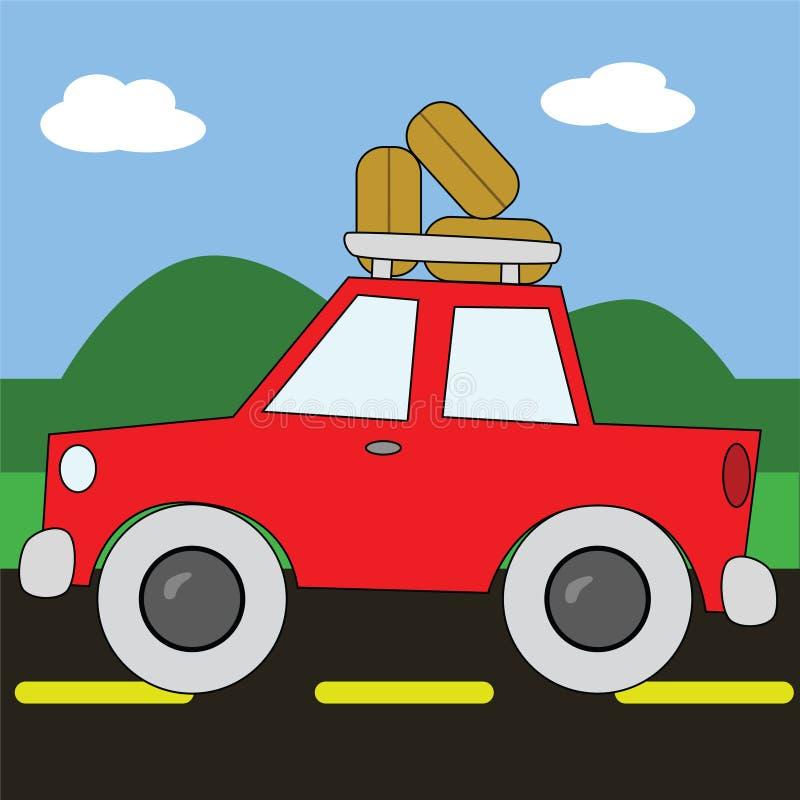 Download Road trip 2 stock vector. Image of cartoon, wheels, adventure - 5639771