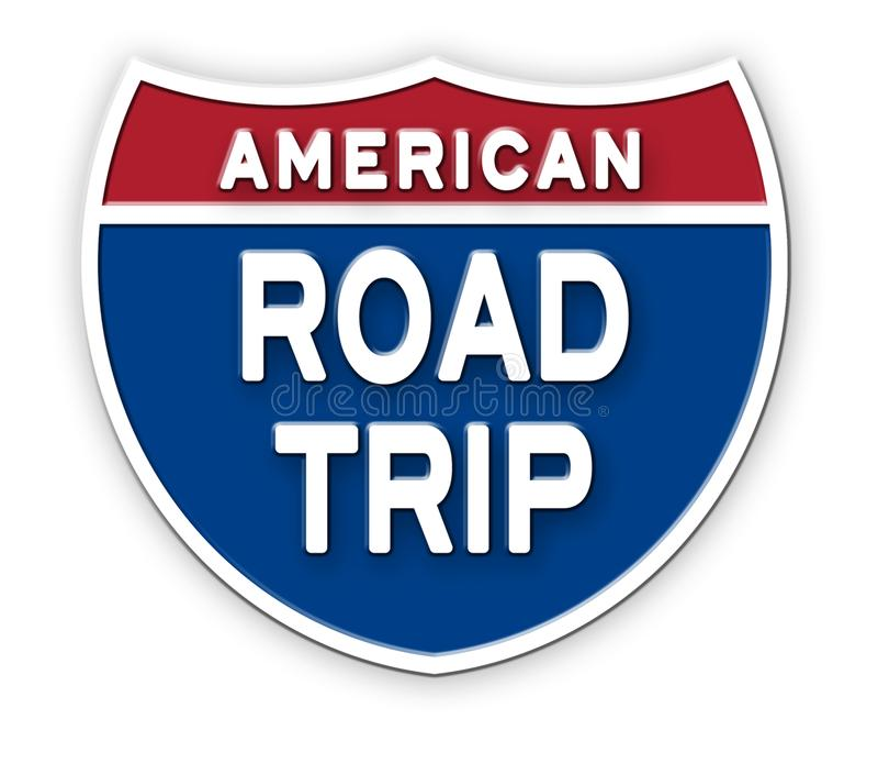 Road Trip America Sign Logo Art stock illustration