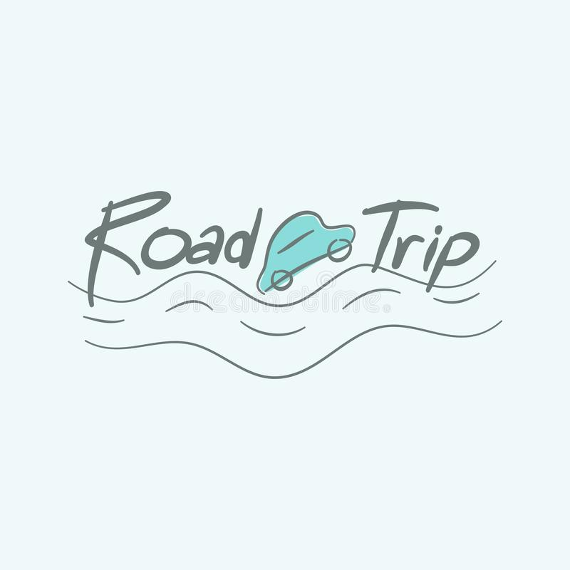 Road trip car royalty free stock image