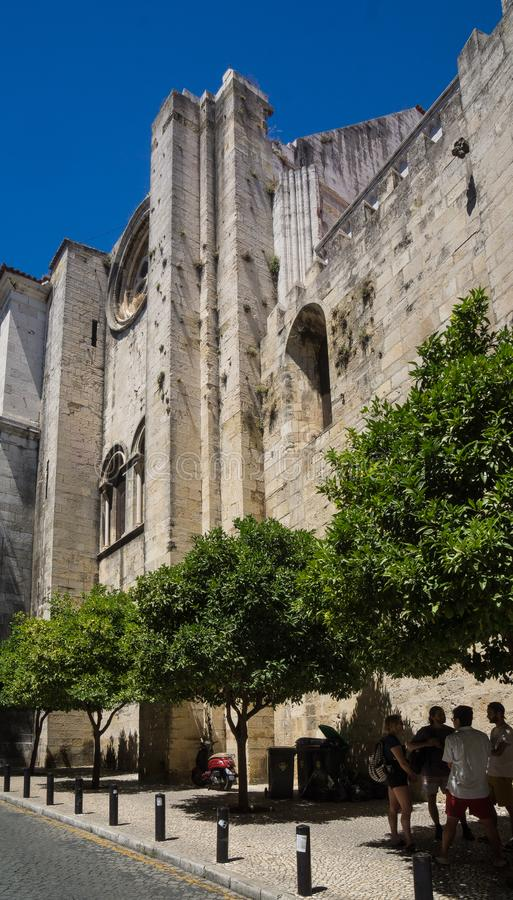 Lisbon cathedral facade royalty free stock image
