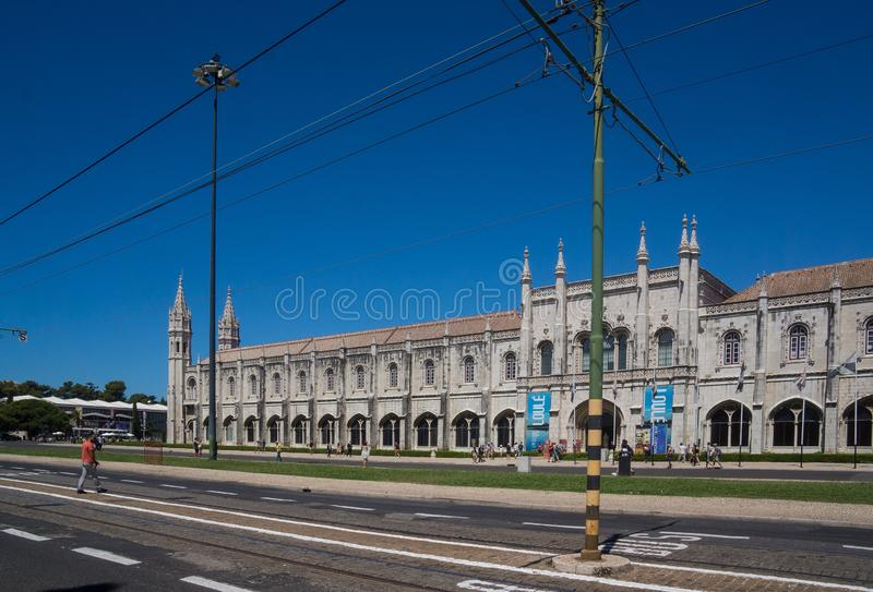 Main street in belem at imperial square royalty free stock photography