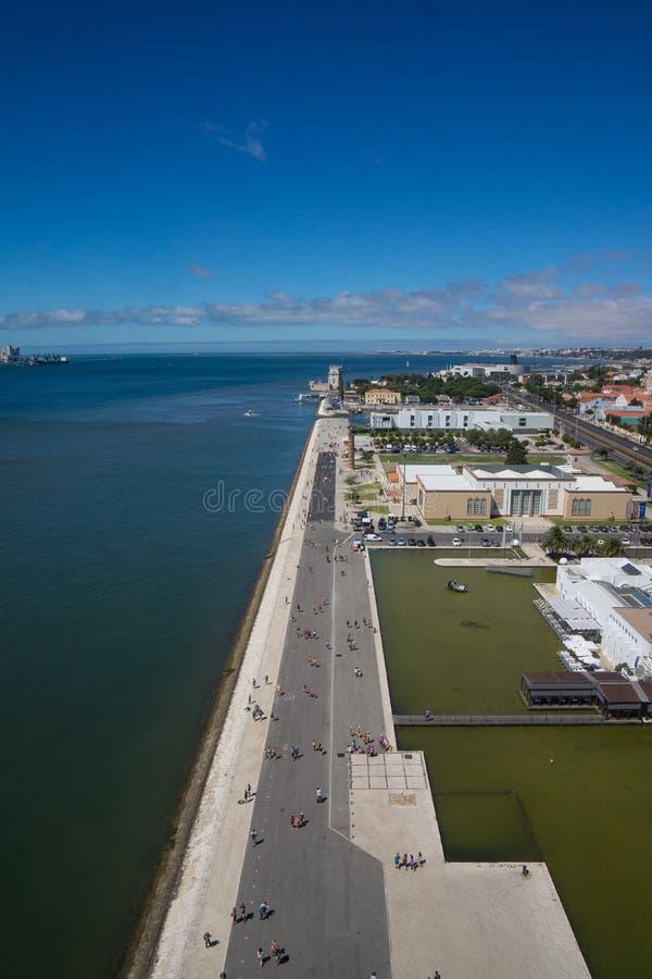 Ocean sight along street royalty free stock photography